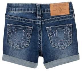 True Religion Boyfriend Shorts (Little Girls)