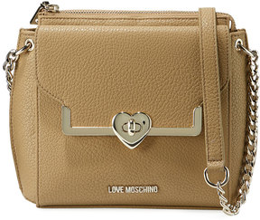 Love Moschino Pebbled Faux-Leather Shoulder Bag