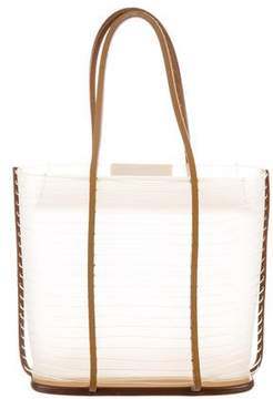 Salvatore Ferragamo PVC & Leather Top Handle Bag