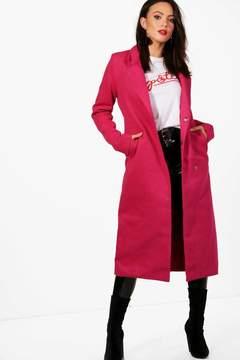 boohoo Tall Erin Longline Wool Coat