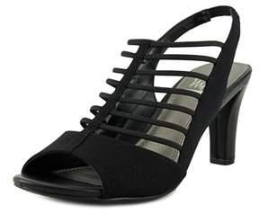 Impo Varoom Women Open Toe Canvas Black Sandals.