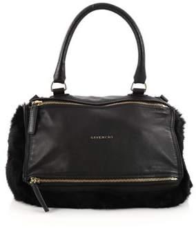 Givenchy Pre-owned: Pandora Handbag Leather And Fur Medium.