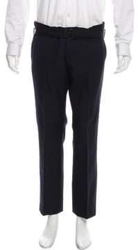 Dries Van Noten Cropped Flat Front Dress Pants