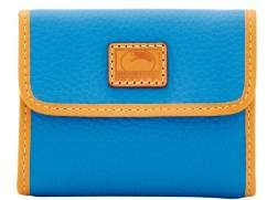Dooney & Bourke Patterson Leather Small Flap Credit Card Wallet - AZURE - STYLE
