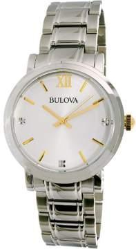 Bulova Men's 98D135 Silver Stainless-Steel Quartz Dress Watch