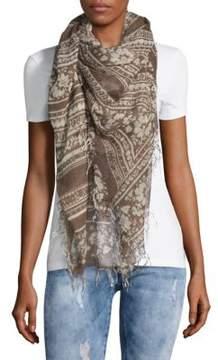 Chan Luu Batik-Print Cashmere & Silk Scarf