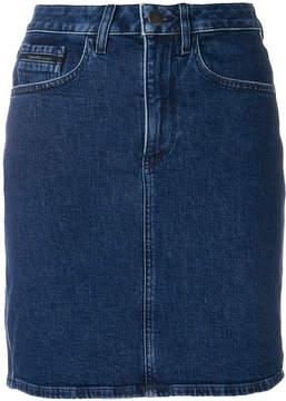 CK Calvin Klein denim pelmet skirt