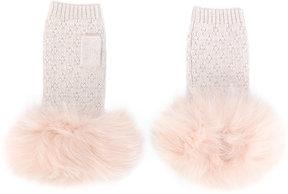 Yves Salomon knit gloves