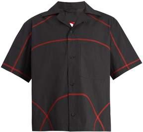 Craig Green Contrast-stitch cotton-blend shirt