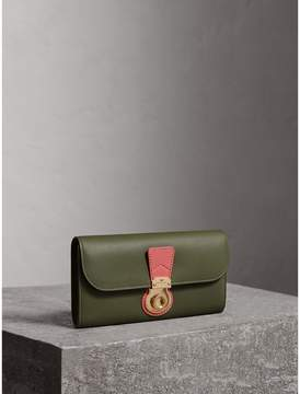 Burberry Two-tone Trench Leather Continental Wallet