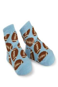 Mud Pie Football Infant Socks