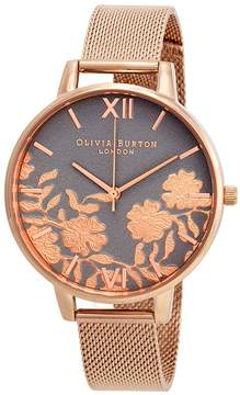Olivia Burton Lace Detail Grey Dial Ladies Watch