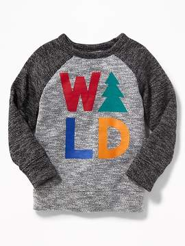 Old Navy Sweater-Knit Graphic Raglan Pullover for Toddler Boys