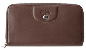 Longchamp Le Pliage Cuir Leather Zip Around Wallet. - TERRA - STYLE