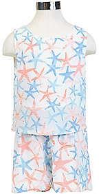 Nautica Little Girls' Starfish Romper (2T-7)