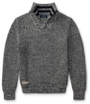 Ralph Lauren Cotton Half-Zip Sweater Hunter Navy Multi Xl