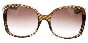 Bottega Veneta Round Oversize Sunglasses