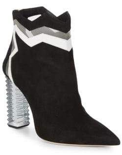 Aperlaï Jagged Suede Ankle Boots