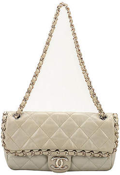 One Kings Lane Vintage Chanel Ice White Evening Bag - Vintage Lux