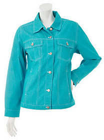 Denim & Co. As Is Stretch Colored Denim Jean Jacket
