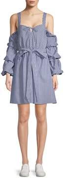 Alexia Admor Women's Striped Cold-Shoulder Dress