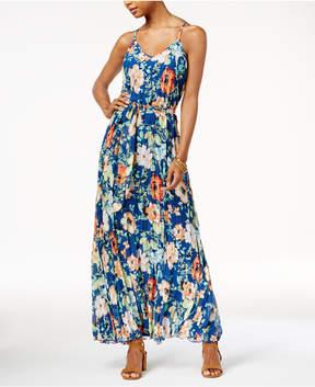 B. Darlin Juniors' Floral-Print Pleated Dress