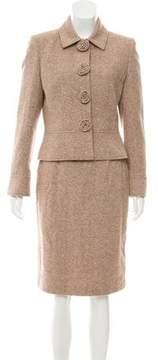 Tahari Structured Wool Skirt Suit
