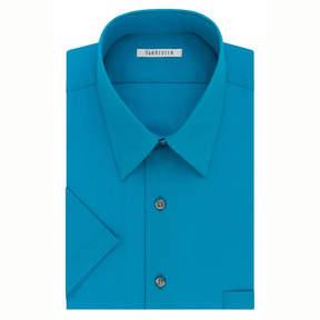 Van Heusen Easy-Care Poplin Big And Tall Short Sleeve Poplin Dress Shirt
