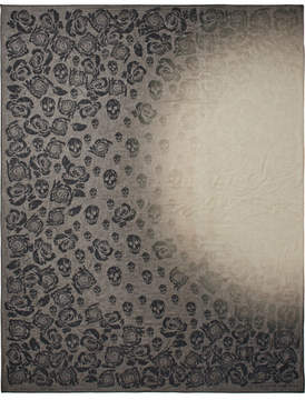 Alexander McQueen Printed Dégradé Chiffon Scarf - Gray