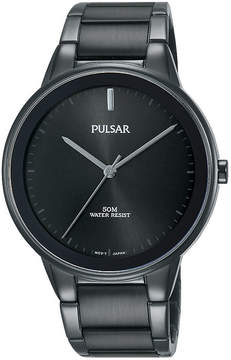 Pulsar Mens Black Bracelet Watch-Pg2045