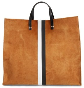 Clare Vivier Simple Stripe Suede Tote - Brown