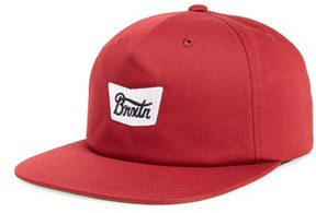 Brixton Men's Snapback Baseball Cap - Red