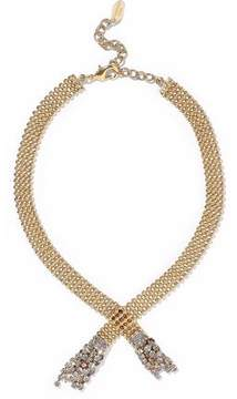 Elizabeth Cole Beaded Gold-Tone And Crystal Necklace