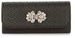 Adrianna Papell Woven Satin Clutch
