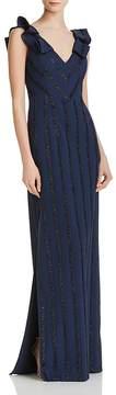 Aidan Mattox Shimmer Knit Gown