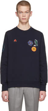 Paul Smith Navy Embellished Crewneck Sweatshirt