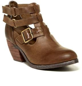 Antelope Strappy Cutout Leather Bootie