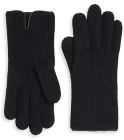 Portolano Honeycomb Cashmere Gloves