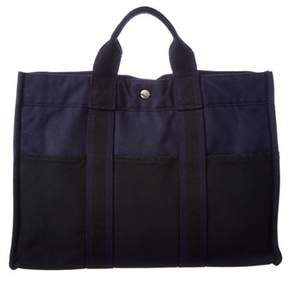 Hermes Navy Canvas Fourretout Mm. - NAVY MULTI - STYLE