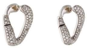 Damiani 18K Pavé Diamond Oval Earrings