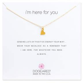 Dogeared 14K Gold Vermeil I'm Here For You Heart Necklace