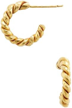 Amrapali Women's 22K Yellow Gold Twisted Hoop Earrings