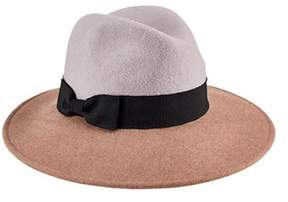 San Diego Hat Company Women's Color Blocked Fedora With Bow Wfh8048.