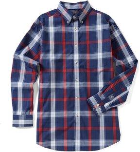 Roundtree & Yorke Trademark Big & Tall Long-Sleeve Large Plaid Sportshirt