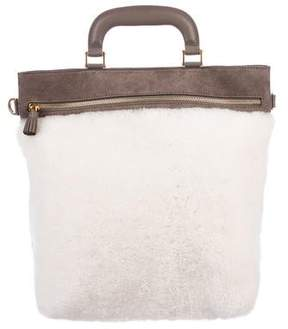 Anya Hindmarch Orsett Shearling Satchel w/ Tags
