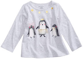 First Impressions Stargazer Penguin-Print T-Shirt, Baby Girls (0-24 months), Created for Macy's