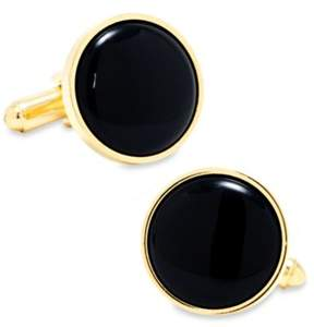 Ox & Bull Trading Co. Gold and Onyx Cufflinks