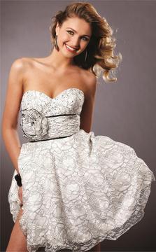 Blush Lingerie 9141 Lace Sweetheart A-line Dress