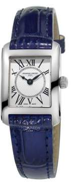 Frederique Constant Carree Stainless Steel Leather Strap Watch