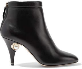 Nicholas Kirkwood Penelope Embellished Leather Ankle Boots - Black